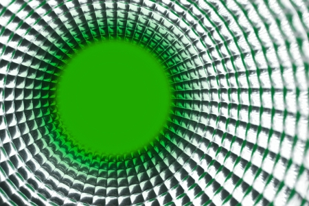 tunel: round green point background in silver reflection tunel