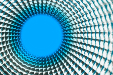 tunel: round blue point background in silver reflection tunel