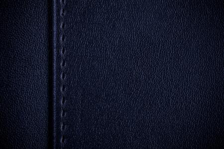 margen: azul textura de cuero, costura entre el margen y el fondo