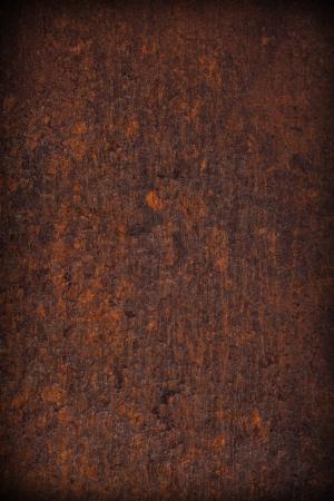 녹슨: 갈색 오래 된 녹 금속 접시 배경, 추상 질감