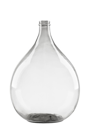 carboy: demijohn isolated on white background, fermentation glass balloon
