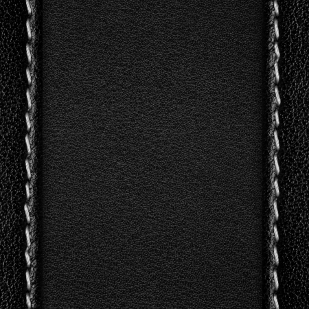 seams: black abstract leather background, rough pattern texture with margins