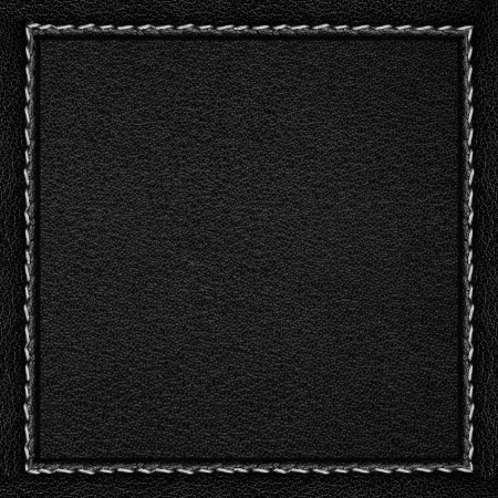 leathery: black leather background in dark leathery frame with seam