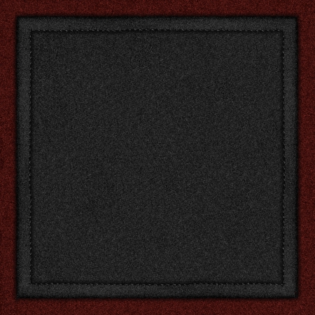 black canvas background with seam on red rough texture photo