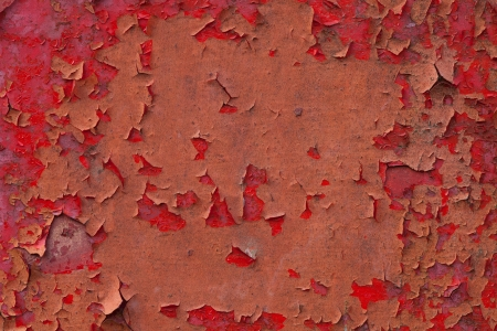 red paint peeling off or old metal painted texture