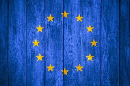 european economic community: flag of European Union or banner of united Europe