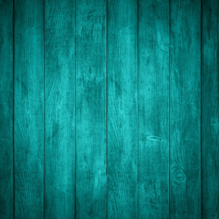 turquoise wooden background or color planks texture photo