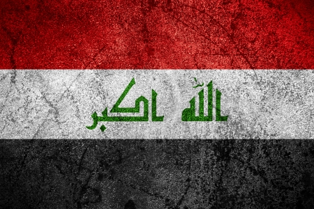 iraqi: flag of Iraq or Iraqi banner on rough metal background
