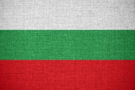drapeau de la Bulgarie ou de la bannière bulgare sur la toile de fond