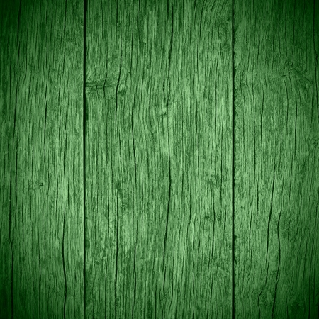 green old planks wooden background or wood grain texture