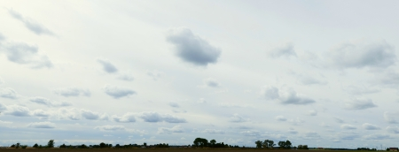 clouds on the sky or panoramic landscape with horizon, stormy\ weather