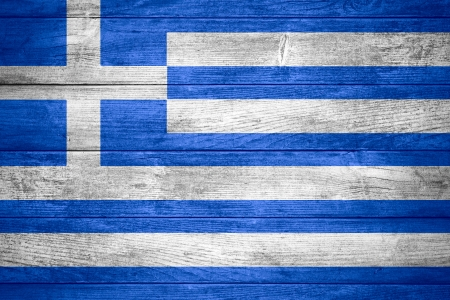 grecian: flag of Greece or Grecian banner on wooden background