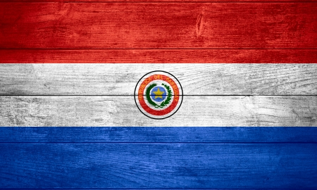 paraguayan: flag of Paraguay or  Paraguayan banner on wooden background