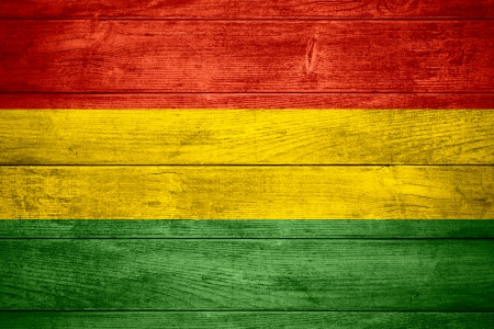 bolivian: flag of Bolivia or Bolivian banner on wooden background