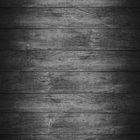 black planks background or wooden boards grey texture Stock Photo
