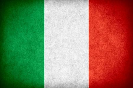 종이 거친 무늬 질감에 이탈리아의 국기 또는 이탈리아어 배너 스톡 콘텐츠