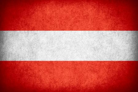 austrian flag: flag of Austria or Austrian banner on paper rough pattern texture Stock Photo