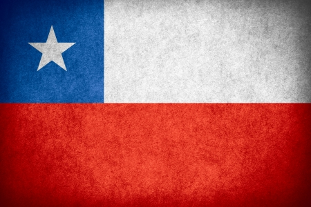 chilean: flag of Chile or Chilean banner on paper rough pattern texture