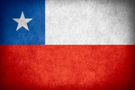 vlag van Chili of Chileense banner op papier ruw patroon textuur Stockfoto
