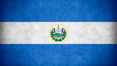 el salvadoran: flag of EL Salvador or Salvadoran  banner on paper rough pattern texture