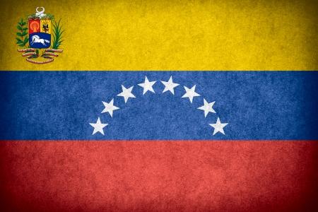 venezuelan: flag of Venezuela or Venezuelan banner on paper rough pattern texture