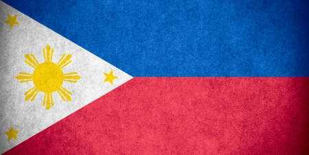 philippines flag: flag of Philippines,  or Filipino banner on paper rough pattern texture