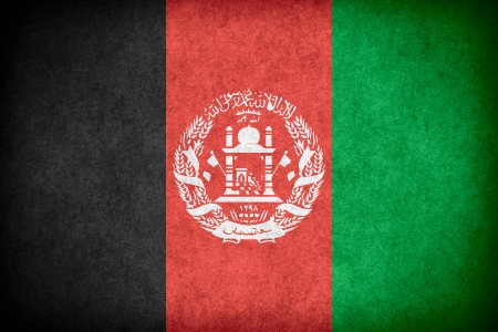afghan flag: flag of Afghanistan or Afghan banner on paper rough pattern texture Stock Photo
