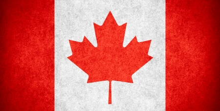 nationalities: flag of Canada or Canadian banner on paper rough pattern texture Stock Photo