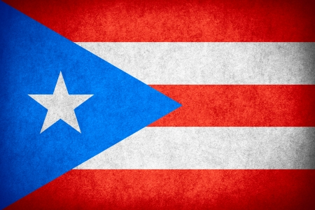 puerto rican flag: flag of Puerto Rico or Puerto Rican banner on paper rough pattern texture