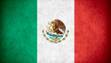nationalities: flag of Mexico or Mexican banner on paper rough pattern texture Stock Photo
