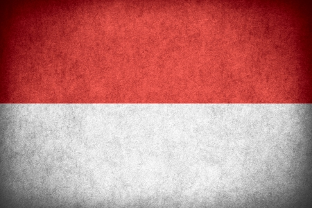 flag of Indonesia or Indonesian banner on paper rough pattern texture