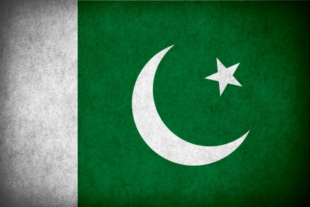 pakistani pakistan: flag of Pakistan or Pakistani banner on paper rough pattern texture