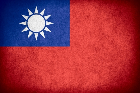 taiwanese: flag of Taiwan or Taiwanese banner on paper rough pattern texture