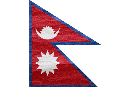 flag of Nepal or Nepali banner on canvas texture Фото со стока - 26560704