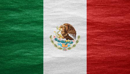 キャンバスのテクスチャにメキシコやメキシコの旗の旗