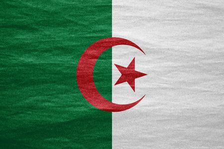 Algierski: Flaga Algierii lub Algierii tekstury transparent na płótnie