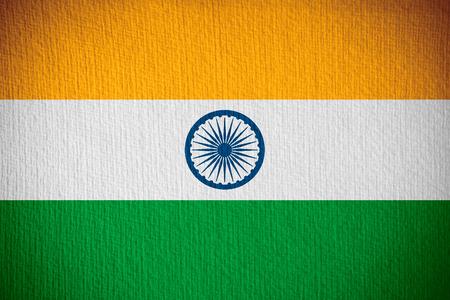 bandera de la india: bandera de la India o la bandera en el fondo de papel
