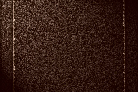 brown leather background with seam grey rough texture