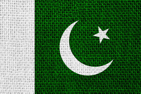 pakistani pakistan: flag of Pakistan or Pakistani banner on linen background