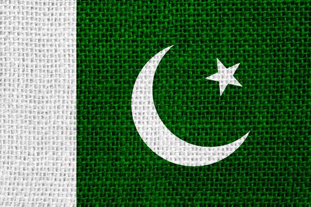 pakistani pakistan: flag of Pakistan or Pakistani banner on linen background