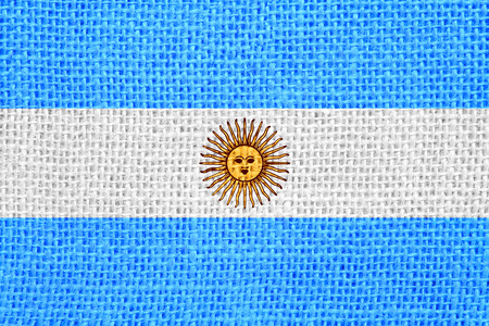 argentinian: flag of Argentina or Argentinian banner on linen background