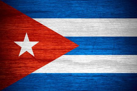 bandera cuba: Bandera de Cuba o la bandera cubana en la textura de madera