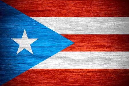 bandera de puerto rico: Bandera de Puerto Rico o banner en textura de madera