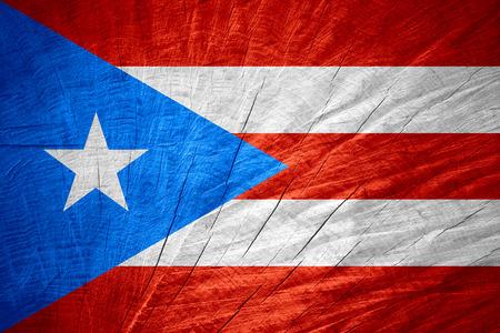 bandera de puerto rico: Bandera de Puerto Rico o Puerto Rico bandera en la textura de madera