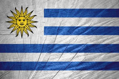 bandera de uruguay: Bandera de Uruguay o la bandera uruguaya en textura de madera