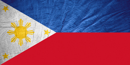philippine: the Philippines flag or Philippine banner on wooden texture