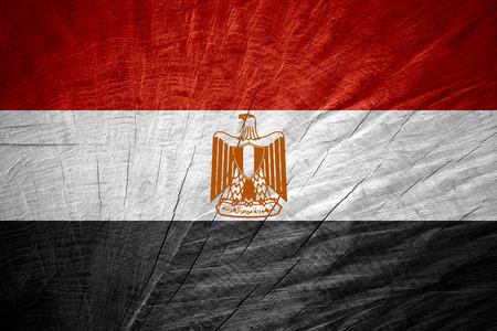 bandera de egipto: Bandera de Egipto o la bandera egipcia en textura de madera Foto de archivo