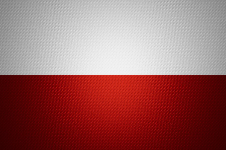 poland flag: Poland flag or Polish banner on abstract texture