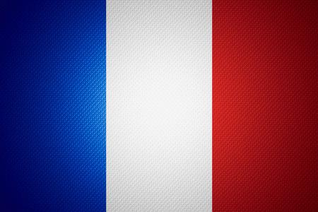 bandera francia: Francia flag o bandera francesa en la textura de madera