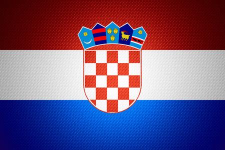 flag croatia: Bandera de Croacia o banner en la textura abstracta Foto de archivo